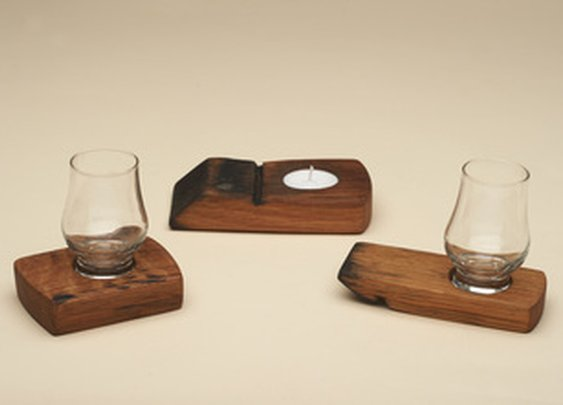 Whisky glass holders