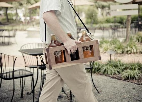 Wood Beer Growler Carrier | Home Dining & Barware | Tilnic Creations  | Scoutmob Shoppe | Product Detail