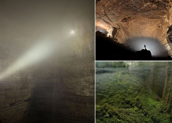 Er Wang Dong cave in China so huge it has its own weather system  | Mail Online