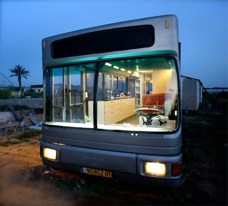 Run-Down City Bus Converted to Chic Custom DIY RV