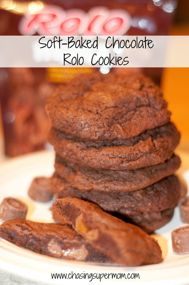 Soft-Baked Chocolate Rolo Cookies | Chasing Supermom