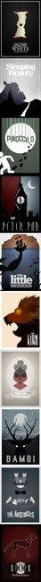 Minimalistic Disney Posters