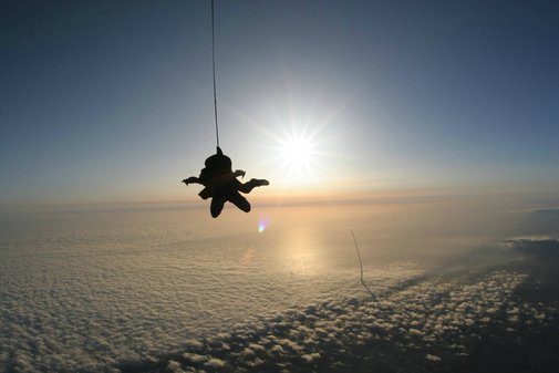 Skydiving with the Space Shuttle