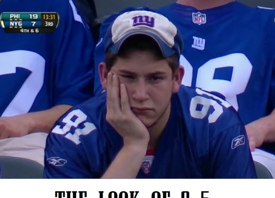 Caption This: Giants Fan : 101 or Less