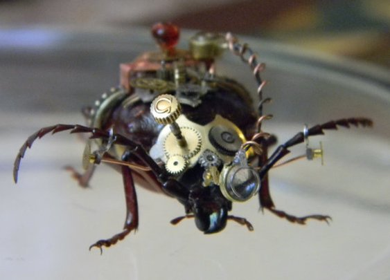 Stunning Steampunk Embellished Beetle by CuriosityShopper