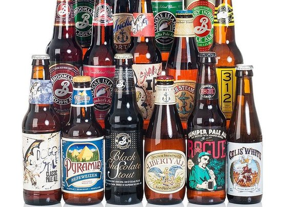 set of 15 american craft beers