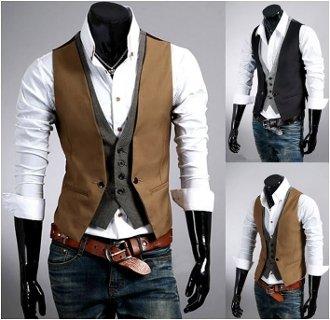 Men's Layered Look Vest
