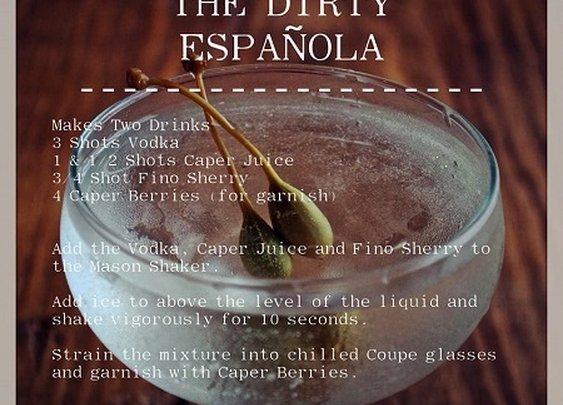 The Dirty Española Cocktail