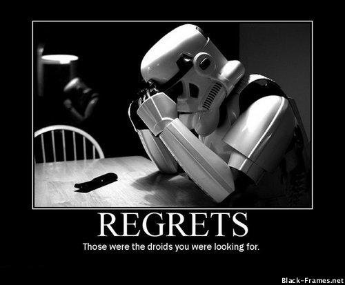 Regrets on Black-Frames