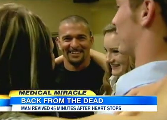 Dead for 45 min. His son prays. Guess what happened?