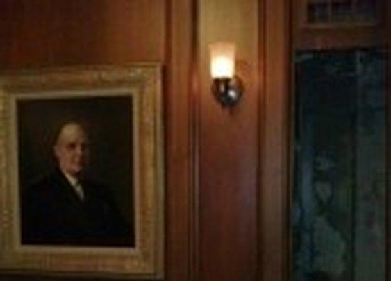 Secret Door Panel in Prohibition Era Office | StashVault