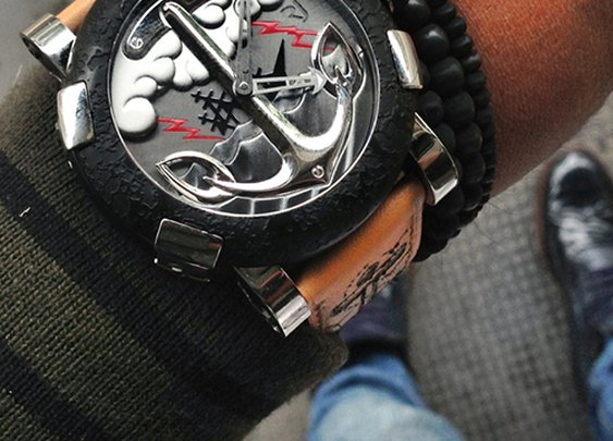 The new Romain Jerome Tattoo DNA designed by world famous tattoo artist Mo Coppoletta