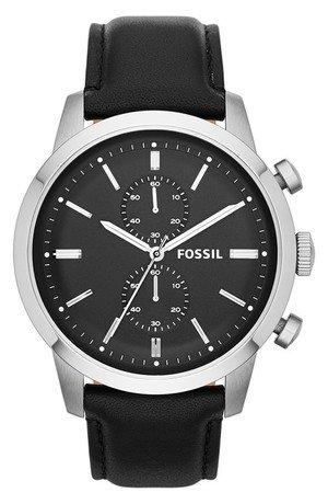 'Townsman' Chronograph Leather Strap Watch
