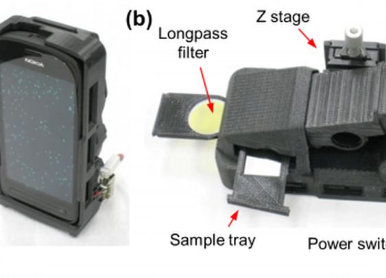 3D-printed attachment turns smartphones into sub-wavelength microscopes