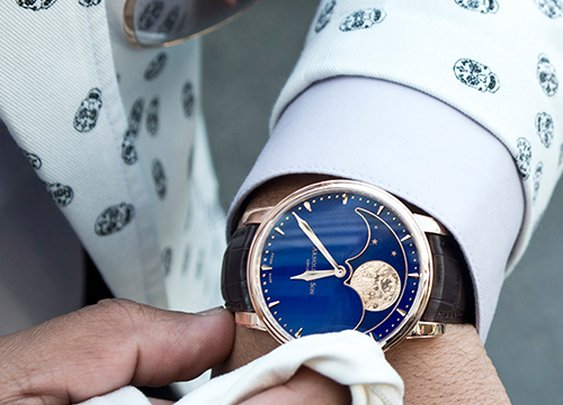 The stunning Arnold & Son Perpetual Moon