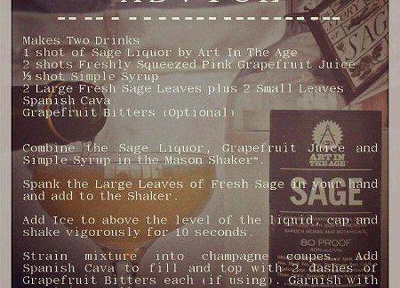 Sage Advice Cocktail