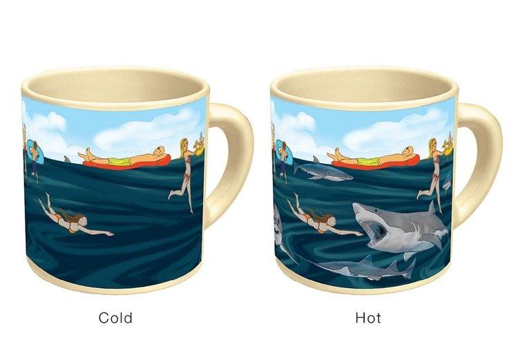 Heat-Sensitive Shark Mug