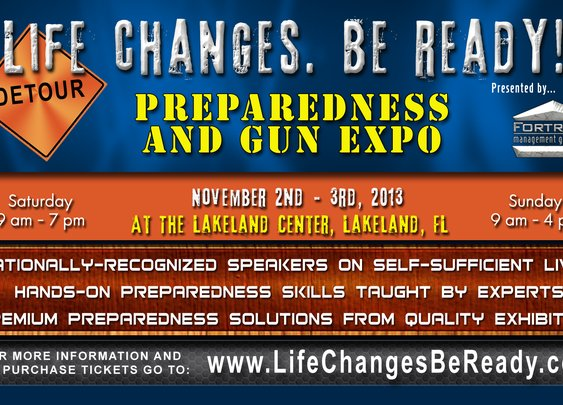 """Life Cahnges,Be Ready"" Prepper Expo- Cindy Thompson"