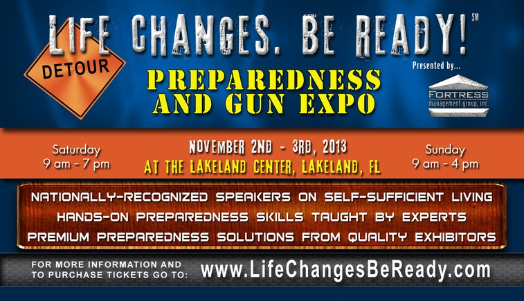 """""""Life Cahnges,Be Ready"""" Prepper Expo- Cindy Thompson"""