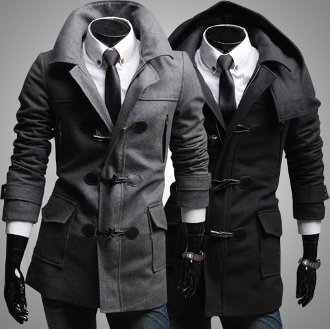 Men's Coat with Removable Hood