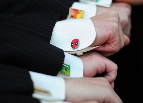 Superhero cufflinks!