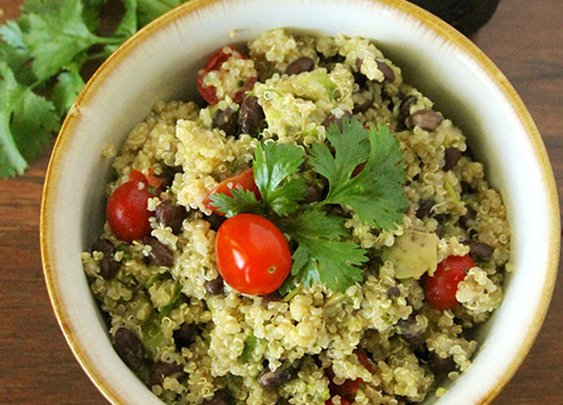 Lime, Black Bean, and Quinoa Salad - Cooking Quinoa