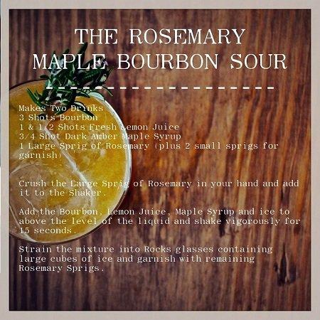 Rosemary Maple Bourbon Sour