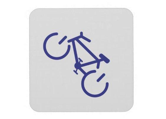 Blue Power Bike Drink Coaster