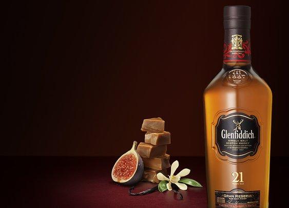 Glenfiddich 21 Year Old. The Most Awarded Single Malt Scotch Whisky.