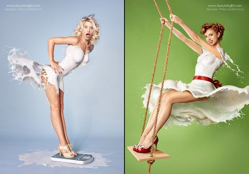 Milky Pin-Ups Are Traditional-40's Pinup Photos Made With High-Speed Milk [NSFW] | DIYPhotography.net