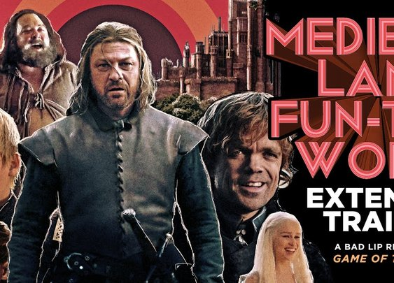 "A Bad Lip Reading of Game of Thrones - ""MEDIEVAL LAND FUN-TIME WORLD"" EXTENDED TRAILER"