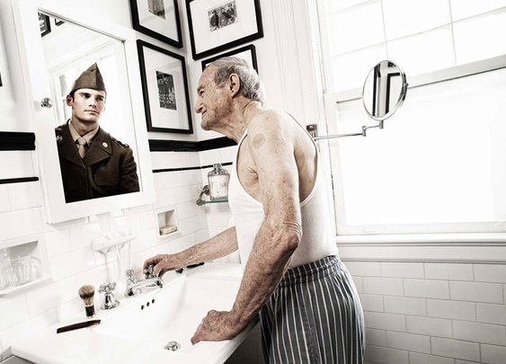 Portraits of People Seeing Their Younger Self in a Mirror     «TwistedSifter