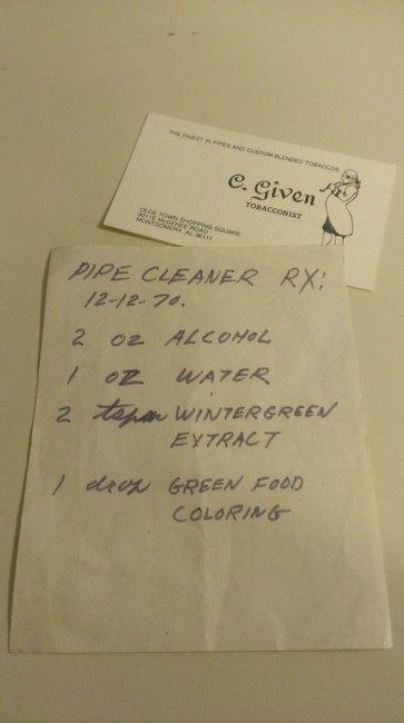 Heirloom Pipe Cleaning Solution   The Gentleman & Scholar