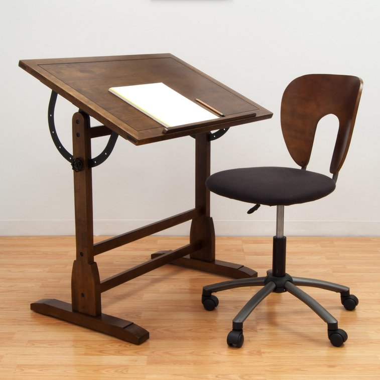 Studio Designs Vintage Drafting Table - Rustic Oak - Drafting & Drawing Tables at Hayneedle