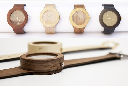 All Natural Wood Watch With Soft Strap - Bonjourlife