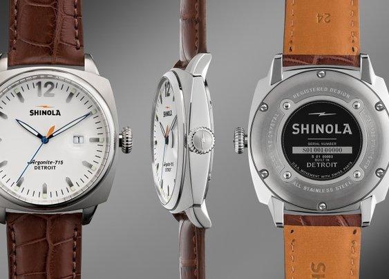 THE BRAKEMAN 46mm Brown Alligator Leather Watch  | Shinola®