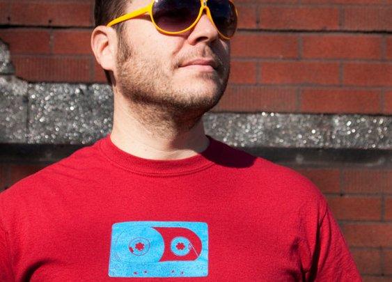 80's Cassette Tape shirt men's tshirt Large by blackbirdandpeacock