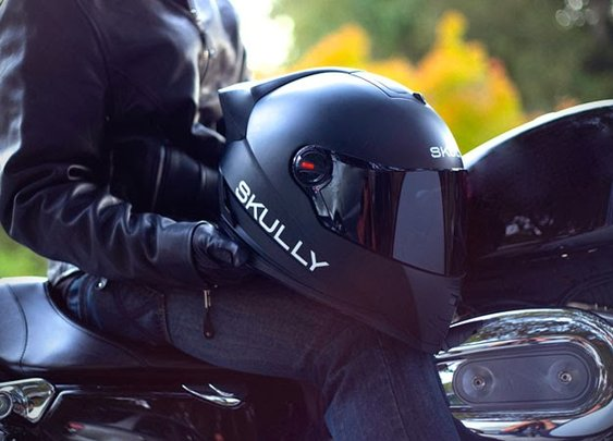 SKULLY P1 DISPLAY MOTORCYCLE HELMET