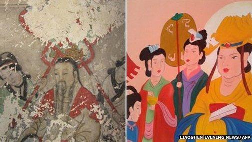 BBC - China sackings over ruined ancient Buddhist frescos