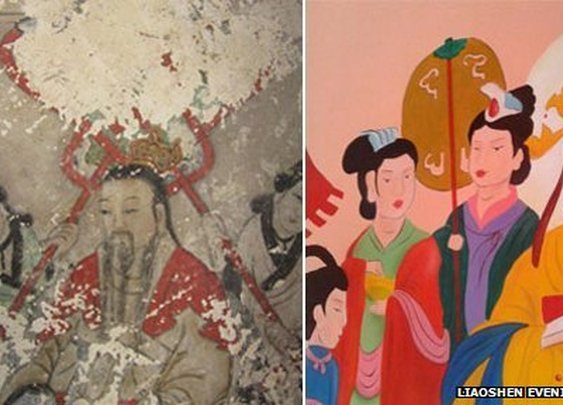 BBC - China sackings over ruined ancient Buddhist frescos