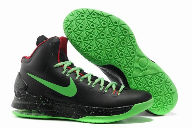 finest selection bac2b f43ad KD V Mens Basketball Shoes Black Volt Green Red Colorways
