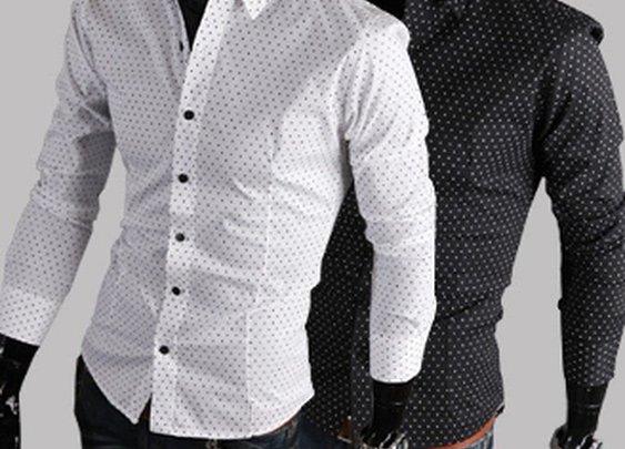Men's Button Down Polka Dots Shirt $29.95