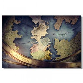 Game of Thrones - Map of Westeros Poster