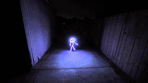 Baby Dressed Up as a Glowing LED Stick Figure For Halloween