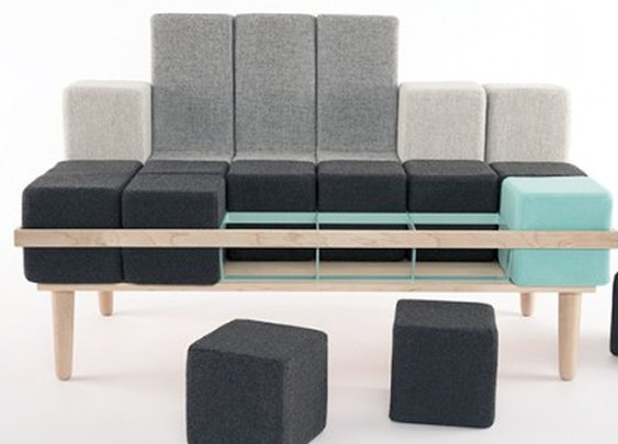 Bloc'd Sofa can be reconfigured to suit your needs
