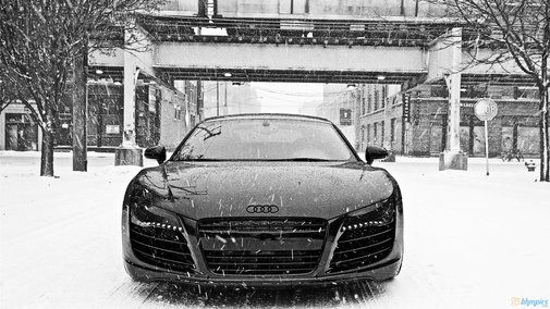 An Audi in it's playground