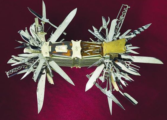 Pre-Swiss-army-knife multi-tool has 100 functions including a pistol and piano tuner