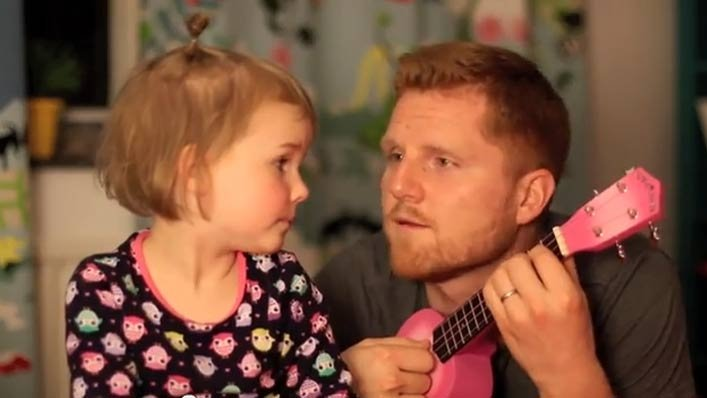 Real Men Play Mini Guitars And Love Their Daughters