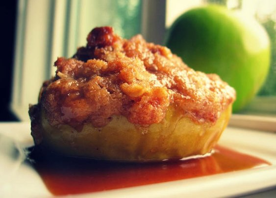 """Caramel Apple """"Almost"""" Pie with Caramel Drizzle"""