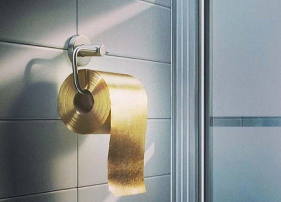 22 Carat Gold Toilet Paper for just $1.3 Million